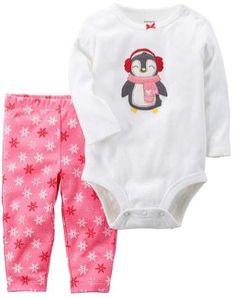 cadebce13b Carter s Infant Girls Snowflake Penguin Baby Outfit 2 Piece Bodysuit    Leggings Coisas De Menina