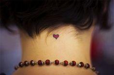 Small Purple Heart Tattoo for Women
