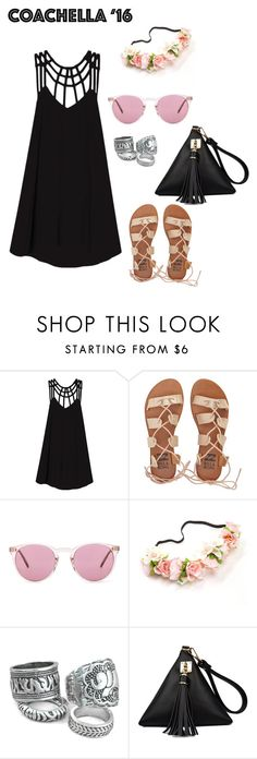 """""""Coachella #2"""" by aranzasc1 on Polyvore featuring RVCA, Billabong, Oliver Peoples, outfit, comfy, coachella, SpringStyle and 2016"""