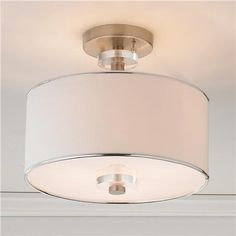 "Modern Sleek Semi-Flush Ceiling Light  3x60 watts medium base sockets. (11.5""Hx13""W) $182"