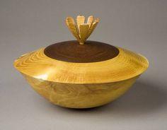 Osage Orange lidded Bowl.