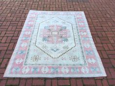 Excited to share the latest addition to my #etsy shop: Pink Oushak Rug, 5.9x7.4 ft, Vintage Runner Rug, Turkish Area Carpet , Tribal Rug, Aisle Rug, Handmade Medium Rug, Accent Urban carpet Medium Rugs, Tribal Rug, Rug Runner, Bohemian Rug, Carpet, Etsy Shop, Urban, Pink, Handmade