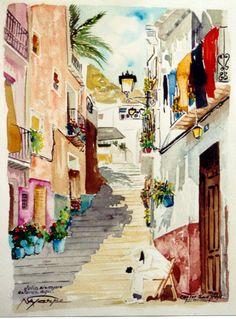 pinturas barrio santa cruz alicante - Buscar con Google Alicante, 1, Abstract, Artwork, Painting, Google, Santa Cruz, Clotheslines, Watercolors