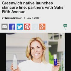 """Marisa Vara Arredondo on Instagram: """"Thanks to The Greenwich Times for writing a beautiful article on PHACE BIOACTIVE. #thephacelife #ph #phbalance #clearskin #healthyskin #buildingabrand #greenwich #home #headquarters #happiness #partnership #gratitude #saks #greenwichtimes"""""""