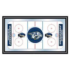 Trademark Global NHL Nashville Predators Framed Hockey Rink Mirror - NHL1500-NP