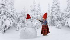 Скандинавское Рождество, Новогодние Пожелания, Рождественские Фото, Зимний Снег, Нордическое Рождество, Снеговик, Куколки, Цвета, Зимняя Фотография