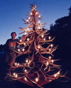 Redneck Christmas tree.