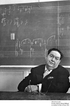 Alfred Eisenstadt. Darius Milhaud ( a French composer and teacher. He was a member of Les Six—and one of the most prolific composers of the 20th century. His compositions are influenced by jazz and make use of polytonality
