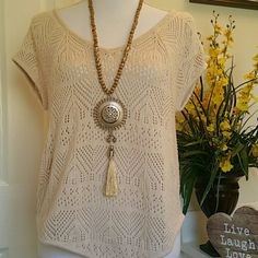 Super Cute Top Boho style top. Beautifully decorated. Fits sizes S-M Xhilaration Tops Camisoles