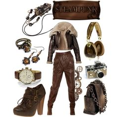 """Steampunk love"" by blackrabbitarts on Polyvore"