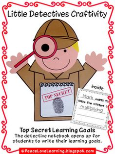 Back to School Detective Craftivity - great for Open House Bulletin Board New School Year, Back To School, Class Bulletin Boards, Detective Theme, March Crafts, Enrichment Programs, Learning Goals, Church Activities, Thematic Units