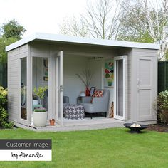 12 x 8 Waltons Contemporary Summerhouse mit Side Shed ., 12 x 8 Waltons Contemporary Summerhouse mit Side Shed When old around notion, your pergola have been going through a current rebirth most of these days. Shed Office, Backyard Office, Backyard Sheds, Outdoor Office, Backyard Studio, Garden Studio, Studio Shed, Backyard House, Backyard Playhouse