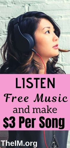 10 Outstanding Websites That Pay You To Listen To free Music! 10 Outstanding Websites That Pay You To Listen To free Music!,How to make money 10 Websites That Pay You TO Listen To Music. Earn Cash Online, Easy Money Online, Make Easy Money, Hobbies That Make Money, Way To Make Money, How To Make, Online Income, Online Jobs, Listening To Music