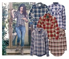 """""""Bastet's Plaid Shirts"""" by carla-turner-bastet ❤ liked on Polyvore featuring Superdry, Aéropostale, Étoile Isabel Marant, Oxbow and Current/Elliott"""