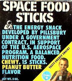 """Space Food Sticks - In support of the U. It was the food """"the astronauts ate! Sweet Memories, Childhood Memories, Space Food, Energy Snacks, Retro Recipes, Nutrition Program, Ol Days, Good Ole, Do You Remember"""