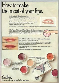 Yes, yes, yes... I had a few pots before they went away. i can still imagine my lip brush, but if really stuck, you just used a finger! thae fragrance was absolutely yummy! Yardley Pot o'Gloss