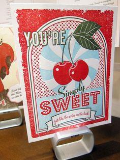 letterpress recipe cards from Elum