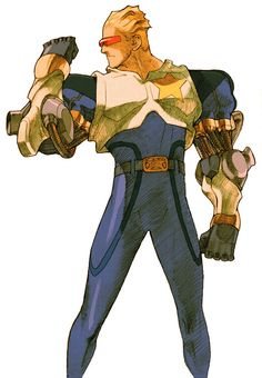 View an image titled 'Captain Commando Art' in our Marvel vs. Capcom 2 art gallery featuring official character designs, concept art, and promo pictures.