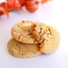 Caramel Apple Cider Cookiesby thegrilwhoateeverything #Cookies #Apple_Cider #Caramel #thegirlwhoateeverything