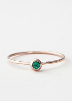 Rock Out! 35 Unique (Non-Diamond) Engagement Rings  #refinery29  http://www.refinery29.com/58795#slide-7  Blanca Monros Gomez Emerald Seed Ring, $195, available at Steven Alan.