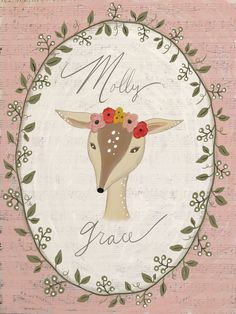 A personal favorite from my Etsy shop https://www.etsy.com/listing/261871021/baby-deer-print-nursery-decor-art-print