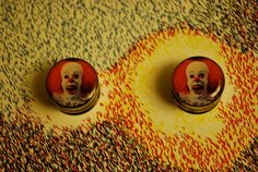 "Scary ""IT"" Clown plugs size 3/4 inch. $17.00, via Etsy."