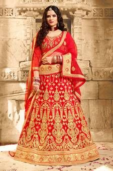 Red Lehenga - Red Lehengas Designs For Women @ Best Prices Red Lehenga, Bridal Lehenga, Saree, Maroon Color, Beige Color, Red Color, Lehenga Online Shopping, Ethnic Gown, Choli Designs