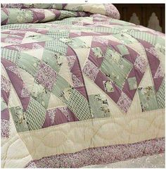 Daybed Lavender Purple Sage Green Shabby Quilt 2 King Size Shams Cottage Day Bed | eBay