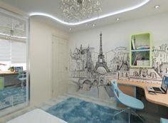 Фото комнаты для девочки-подростка в стиле Париж