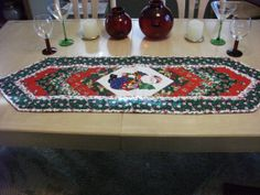 Santa center Table Runner featuring  by KaTerryTheSewSisters, $18.00