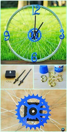 With a metal tire, you can make a clock as well as you can see in the picture below. Take a dough, make letters of it, let it become dry and then place them on the tire with the help of the glue. Is it looking prettier than the usual clocks that we have in our houses, so make it now.