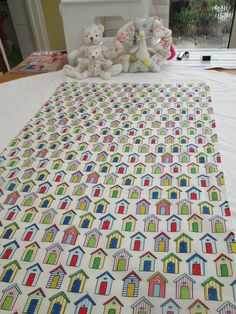 BN Pretty Haberdashery Cotton Remnant In Colourful Beach Huts