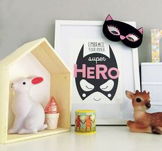 Inspire your little one to embrace their inner superhero! Makes the perfect piece of artwork decor for a childs nursery or playroom.  Print is