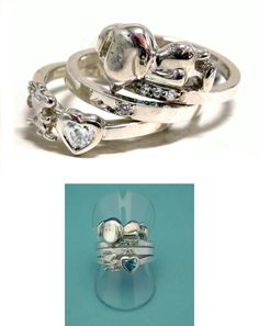 SNOOPY Trinity Ring, OK....I'll take one of these, with Ruby & Diamonds, thank you very much!