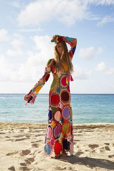 We added another beauty to our Dream Catcher collection! Inspired after Native American dream catchers, this colorful, crocheted design is truly mesmerizing. This dress can be worn with or without a s