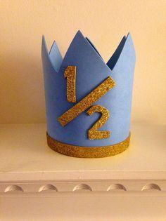 Half Birthday Crown // Six Month Birthday Hat by homegoodsbyholly