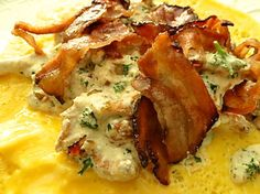 Omelette mit Ricotta Pfifferlingen