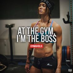 At the gym I am the boss
