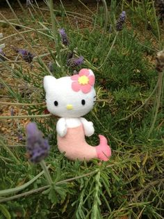 Hello Kitty Mermaid Felt Doll  To Erin for Lauren..... LOL!    LOL Lauren- my aunt pinned this for you!