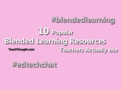 10 Popular Blended Learning Resources Teachers Actually Use