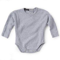 Valentina Grower - Grey Melange Unisex Gifts, Dressing, Bodysuit, Boys, Clothes, Collection, Grey, Women, Style