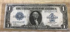 1923 Silver Certificate Large One Dollar United States Currency blue seal by IroquoisCopper on Etsy