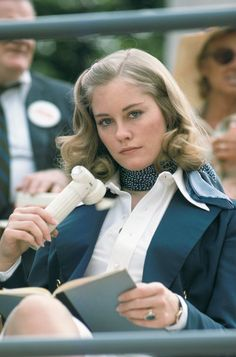 Cybill Shepherd on the set of Taxi Driver, 1975