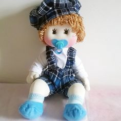 Cloth Doll - Kit and pdf Pattern Felt Crafts Patterns, Doll Patterns, Sewing Projects For Kids, Boy Doll, Soft Sculpture, Poodle, Doll Clothes, Crochet Hats, Handmade