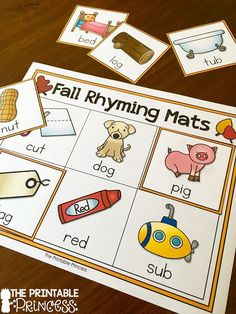 Rhyming word activities. Simple CVC words make these great for beginning learners.