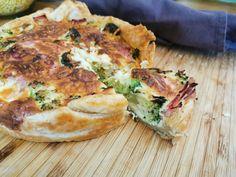 Spanakopita, Salmon Burgers, Broccoli, Ham, Good Food, Snacks, Breakfast, Ethnic Recipes, Quiches