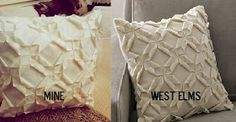 Someday Crafts: West Elm Pillow Knock-off