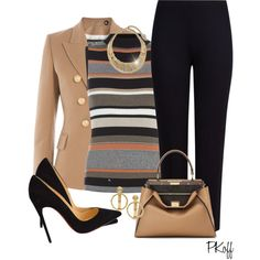 A fashion look from January 2016 featuring print top, drape shirt and balmain jacket. Browse and shop related looks. Work Fashion, Fashion Women, Fashion Trends, Classy Outfits, Stylish Outfits, Corporate Wear, Women's Fashion Dresses, Autumn Winter Fashion, Polyvore Fashion