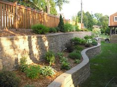 backyard retaining wall idea
