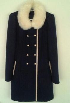 Clotheswap - navy blue coat Hourglass Body Shape, Blue Coats, Body Shapes, Fur Coat, Navy Blue, Feminine, How To Wear, Jackets, Clothes